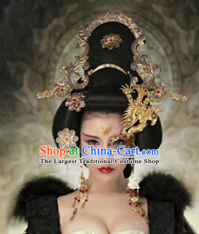 Chinese Handmade Hanfu Tang Dynasty Phoenix Mask Hairpins Traditional Ancient Imperial Consort Hair Accessories for Women