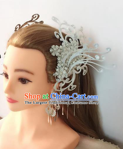 Handmade Chinese Palace Queen Hair Claws Tassel Hairpins Ancient Traditional Hanfu Hair Accessories for Women