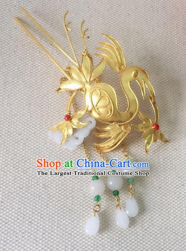Handmade Chinese Palace Queen Phoenix Tassel Hairpins Ancient Traditional Hanfu Hair Accessories for Women