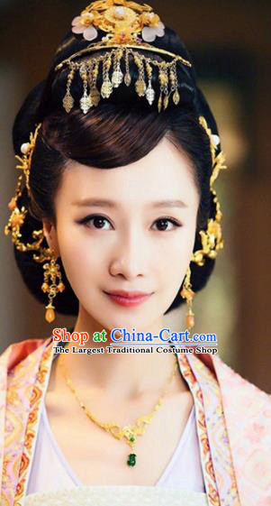 Handmade Chinese Palace Queen Hair Crown Tassel Hairpins Ancient Traditional Hanfu Hair Accessories for Women