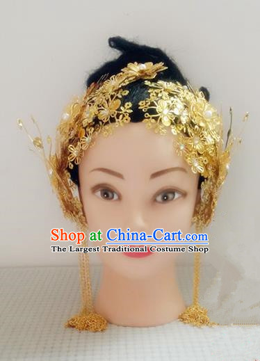 Handmade Chinese Tang Dynasty Princess Tassel Hairpins Golden Hair Claws Ancient Traditional Hanfu Hair Accessories for Women