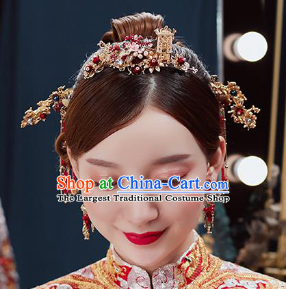 Handmade Chinese Wedding Hair Combs Tassel Hairpins Ancient Traditional Hanfu Hair Accessories for Women