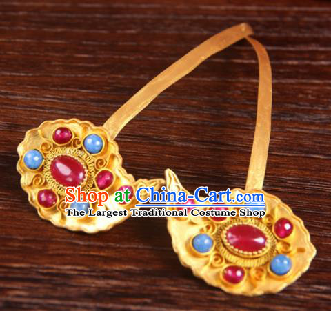 Handmade Chinese Ming Dynasty Palace Hairpins Ancient Queen Traditional Hanfu Hair Accessories for Women