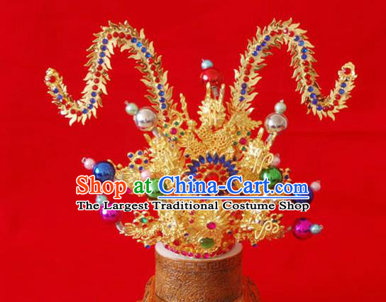 Handmade Chinese Traditional Hair Accessories Ancient Prince Swordsman Hairdo Crown for Men