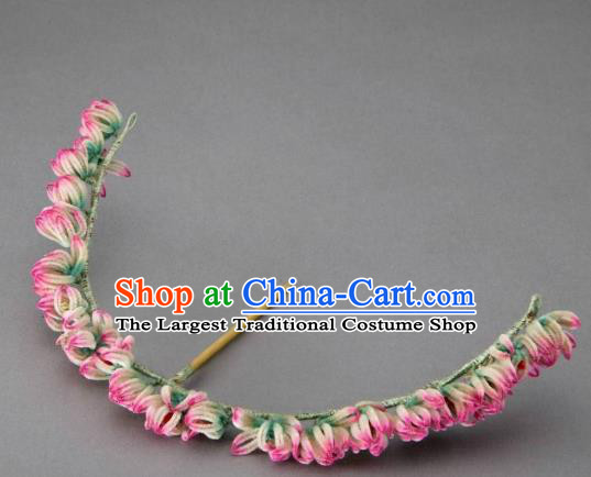 Chinese Handmade Velvet Hairpins Ancient Palace Hair Accessories Headwear for Women