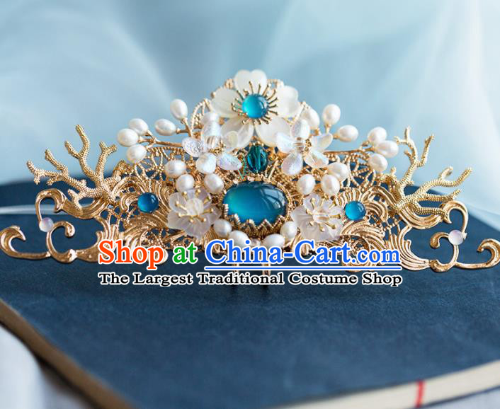 Chinese Handmade Palace Pearls Hairpins Ancient Princess Hair Accessories Headwear for Women