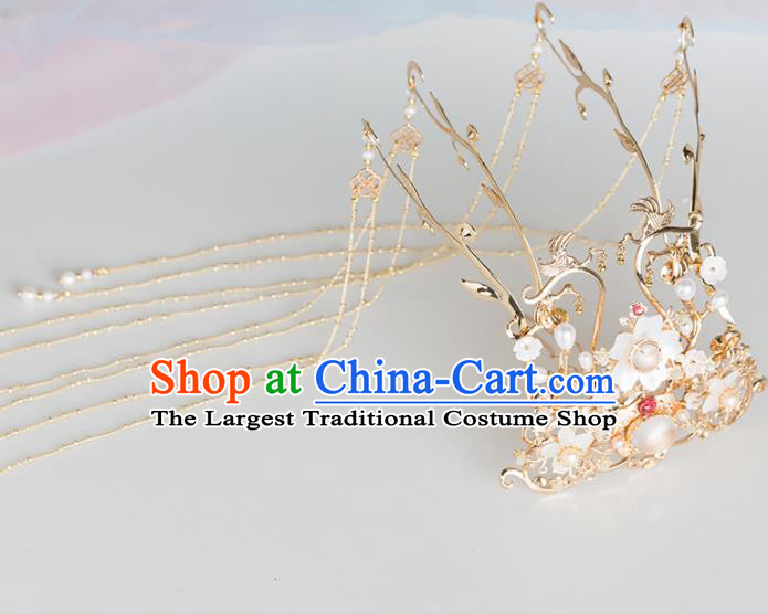Chinese Handmade Phoenix Coronet Hairpins Ancient Princess Hair Accessories Headwear for Women