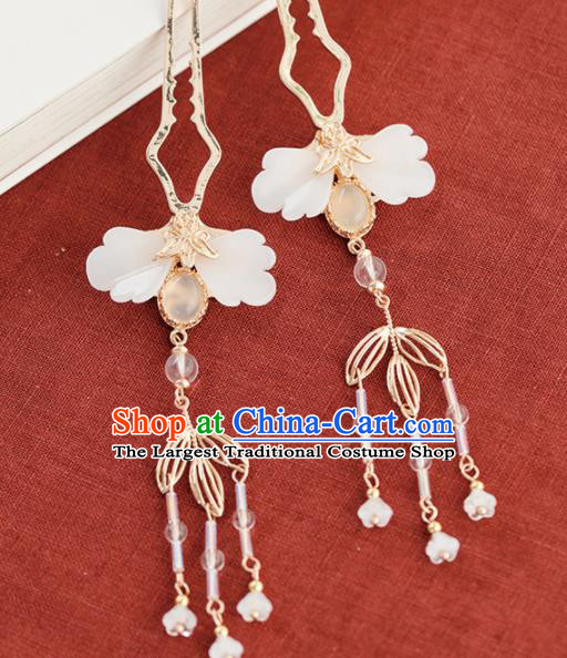 Chinese Handmade Shell Hair Clips Hairpins Ancient Princess Hair Accessories Headwear for Women