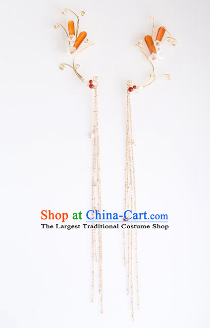 Handmade Chinese Classical Tassel Earrings Ancient Palace Ear Accessories for Women