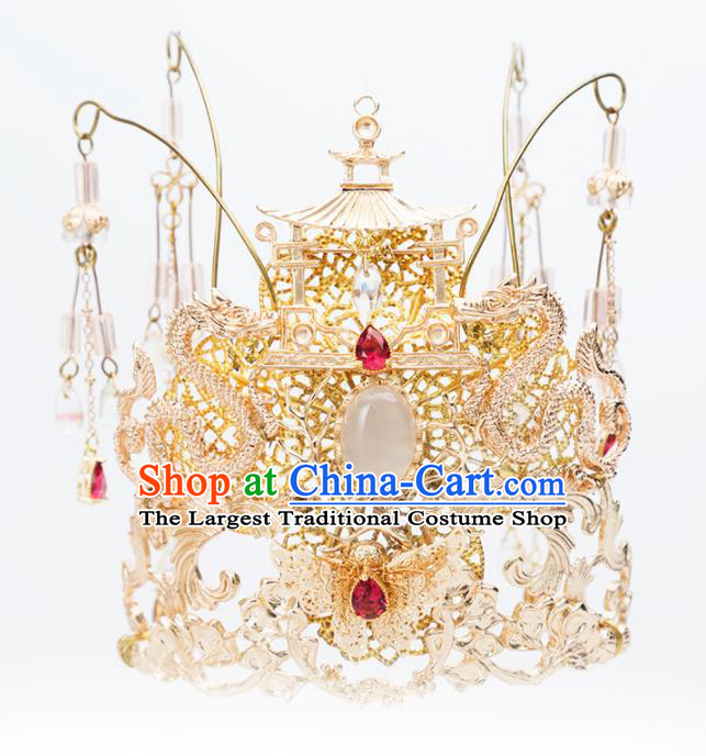 Chinese Handmade Hanfu Phoenix Coronet Hairpins Ancient Princess Hair Accessories Headwear for Women