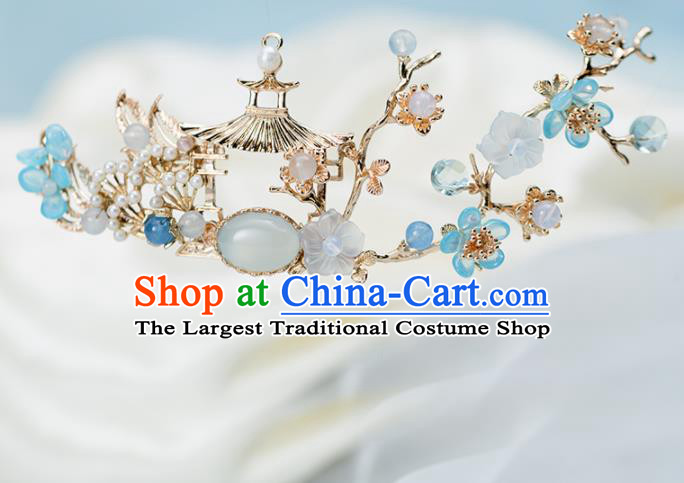 Chinese Handmade Hanfu Hair Crown Hairpins Ancient Princess Hair Accessories Headwear for Women