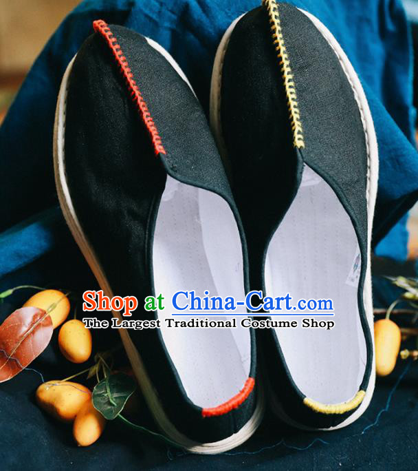 Chinese Handmade Black Cloth Shoes Traditional National Shoes Ancient Hanfu Shoes for Women