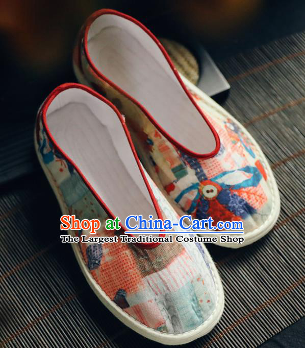 Chinese Handmade Cloth Shoes Traditional National Shoes Ancient Princess Hanfu Shoes for Women