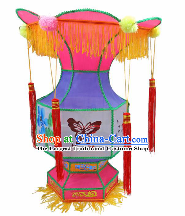 Handmade Chinese Purple Palace Lanterns Traditional New Year Lantern Ancient Ceiling Lamp