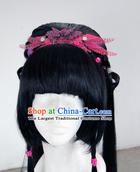 Chinese Traditional Cosplay Peri Wig Ancient Princess Wig Sheath for Women