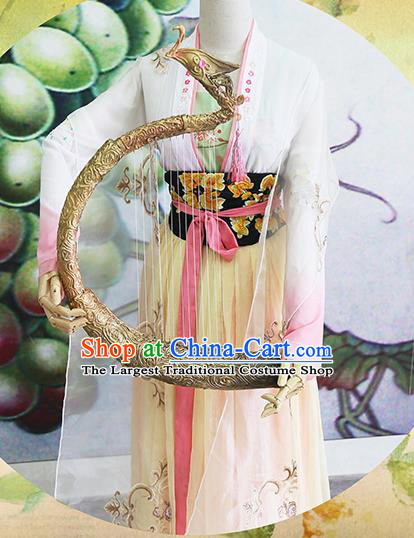 Chinese Traditional Cosplay Court Maid Costume Ancient Tang Dynasty Palace Lady Hanfu Dress for Women