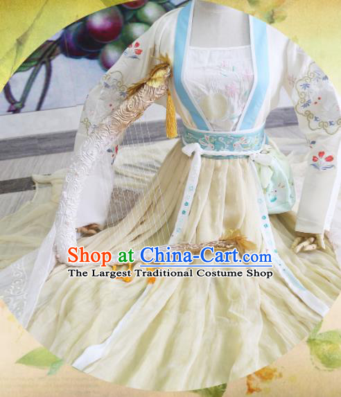 Chinese Traditional Cosplay Peri Princess Costume Ancient Tang Dynasty Palace Lady Hanfu Dress for Women