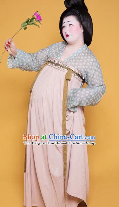 Traditional Chinese Tang Dynasty Court Maid Historical Costume Ancient Large Size Hanfu Dress for Women