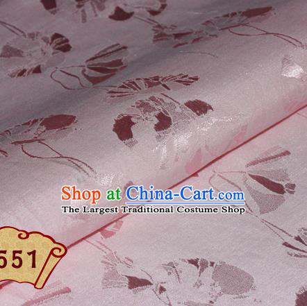 Chinese Traditional Pattern Pink Brocade Cheongsam Classical Fabric Satin Material Silk Fabric