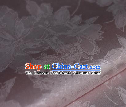 Chinese Traditional Peony Flowers Pattern Pink Brocade Cheongsam Classical Fabric Satin Material Silk Fabric