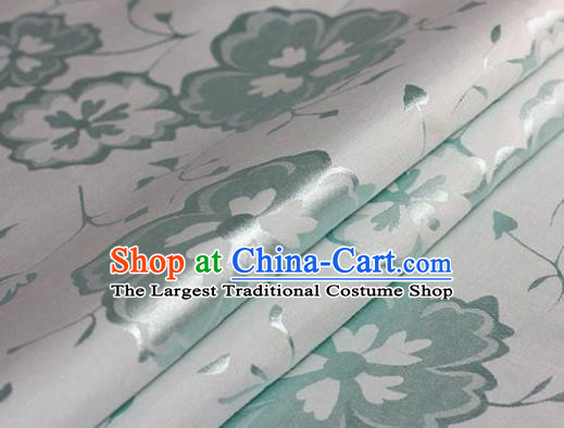 Chinese Traditional Hanfu Green Brocade Material Cheongsam Classical Fabric Satin Silk Fabric