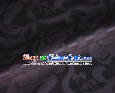 Chinese Traditional Pattern Deep Purple Brocade Cheongsam Classical Fabric Satin Material Silk Fabric