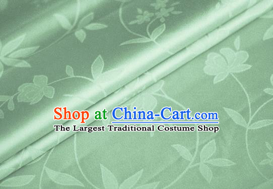 Chinese Traditional Hanfu Royal Pattern Green Brocade Material Cheongsam Classical Fabric Satin Silk Fabric