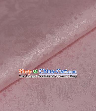 Chinese Traditional Cheongsam Fabric Pink Brocade Material Hanfu Classical Satin Silk Fabric