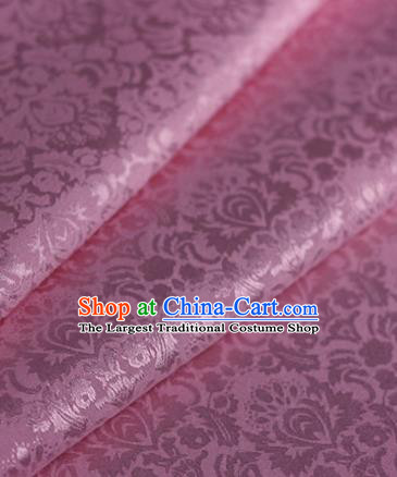 Chinese Traditional Fabric Cheongsam Pattern Pink Brocade Material Hanfu Classical Satin Silk Fabric