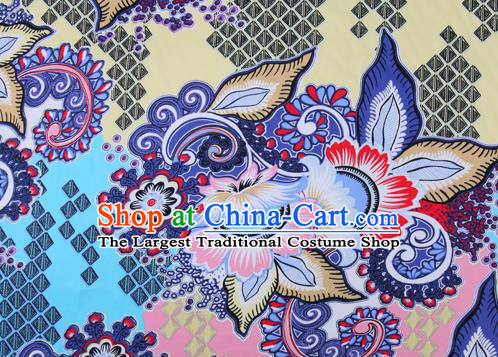 Chinese Traditional Fabric Cheongsam Printing Brocade Material Hanfu Classical Satin Silk Fabric