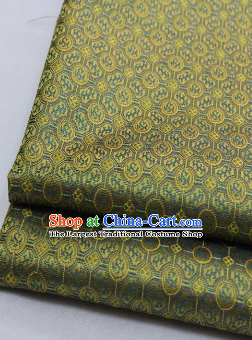 Chinese Traditional Tang Suit Fabric Royal Pattern Golden Brocade Material Hanfu Classical Satin Silk Fabric
