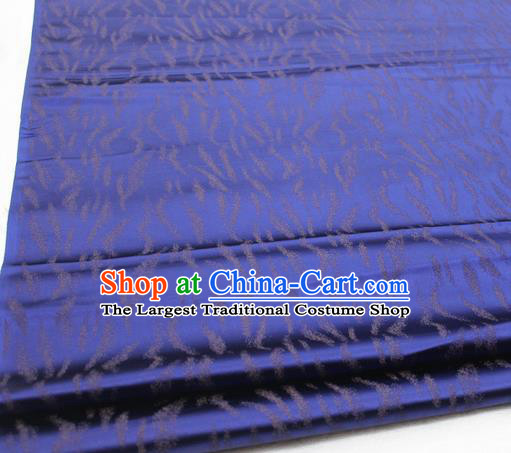 Asian Chinese Traditional Classical Pattern Royalblue Brocade Tang Suit Satin Fabric Material Classical Silk Fabric