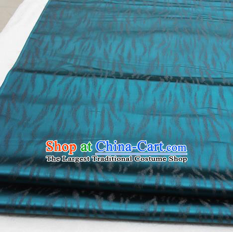Asian Chinese Traditional Classical Pattern Peacock Green Brocade Tang Suit Satin Fabric Material Classical Silk Fabric