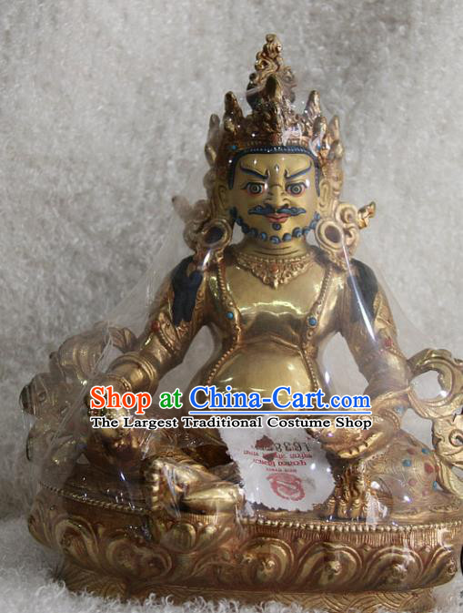 Chinese Traditional Buddhist Copper Buddha Wealth God Statue Tibetan Buddhism Feng Shui Items Sculpture