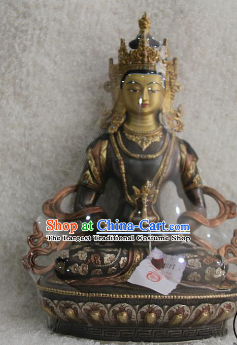 Chinese Traditional Buddhist Copper Buddha Longevity God Statue Tibetan Buddhism Feng Shui Items Sculpture
