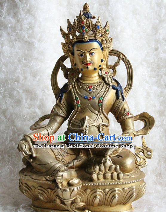 Chinese Traditional Feng Shui Items Buddhism Statue Buddhist Copper Sculpture Decoration