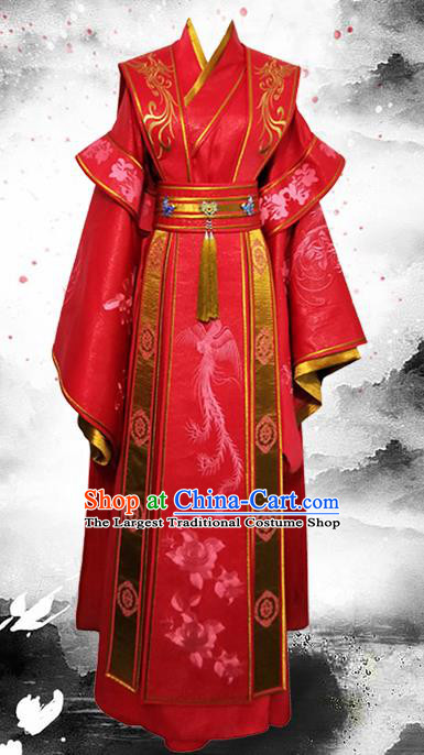 Chinese Ancient Prince Hanfu Clothing Traditional Tang Dynasty Wedding Historical Costume for Men