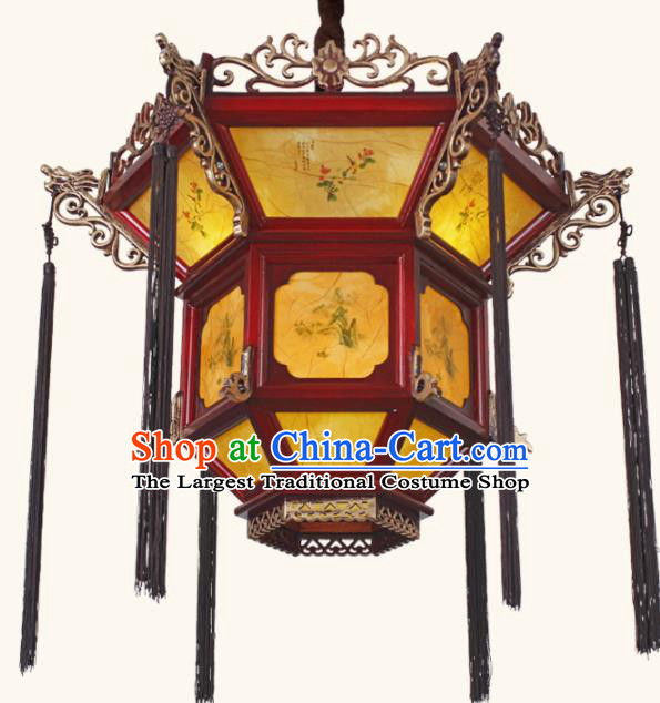 Chinese Traditional Wood Palace Lantern Handmade New Year Hanging Lanterns Ceiling Lamp