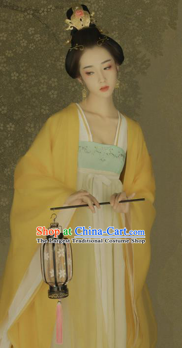 Chinese Ancient Palace Maidservant Hanfu Dress Traditional Tang Dynasty Court Maid Historical Costume for Women
