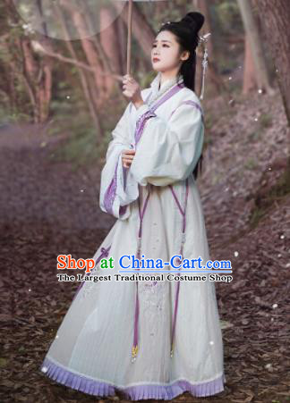 Chinese Jin Dynasty Imperial Consort Dress Traditional Ancient Princess Hanfu Historical Costume for Women