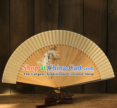 Chinese Traditional Handmade Printing Bamboo Fans Classical Folding Fans for Women