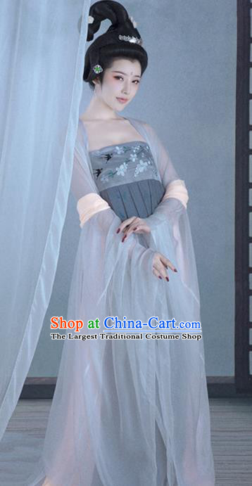 Chinese Ancient Goddess Hanfu Dress Tang Dynasty Imperial Consort Historical Costume for Women