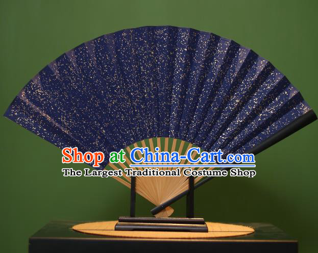 Chinese Traditional Handmade Xuan Paper Fans Classical Folding Fans for Men