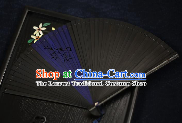 Chinese Handmade Carving Zodiac Dragon Bamboo Fans Classical Accordion Traditional Folding Fans for Women
