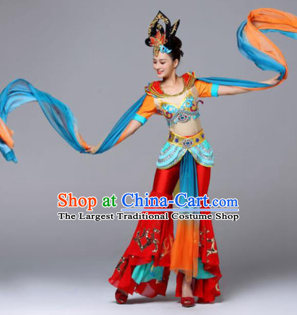Chinese Traditional Dunhuang Flying Apsaras Dance Costume Classical Dance Stage Performance Clothing for Women