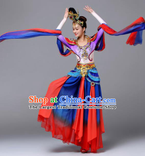 Chinese Traditional Dunhuang Flying Apsaras Dance Costume Classical Dance Stage Performance Dress for Women