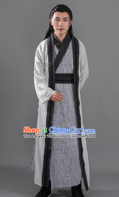 Chinese Ancient Swordsman Hanfu Clothing Tang Dynasty Young Hero Knight Historical Costume for Men