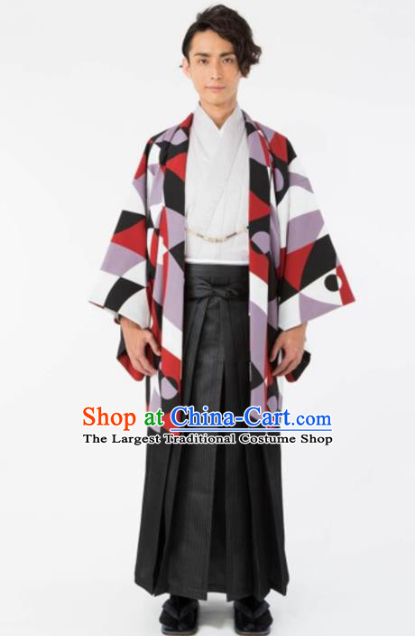Japanese Traditional Samurai Haori Kimono Asian Japan Handmade Warrior Yukata Costume for Men