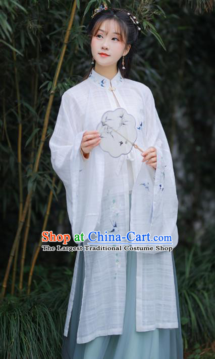 Chinese Ancient Embroidered Hanfu Dress Ming Dynasty Nobility Lady Historical Costume for Women