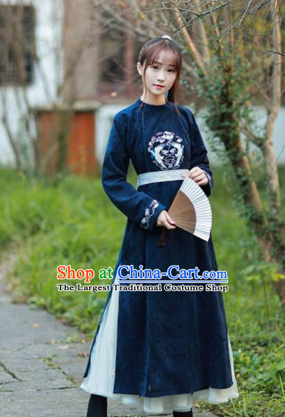 Chinese Ancient Tang Dynasty Historical Costume Traditional Imperial Bodyguard Embroidered Robe for Women